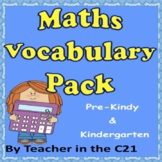 Maths Vocabulary Pack – Pre Kindy – Grade 2