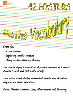 Maths Vocabulary Posters - Number Patterns Data Measurement Geometry