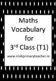 Maths Vocabulary for 3rd Class