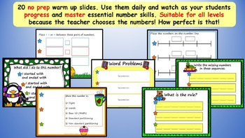 Maths Warm Up Number Counting Place Value Interactive Smart Board Pack