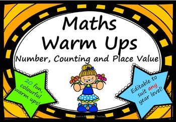 Maths Warm Up Number Counting Place Value Interactive Smar