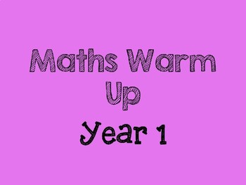 Maths Warm Up (Year 1)
