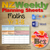 Maths Weekly Planning Sheets (NZ Numeracy) Year 0-8