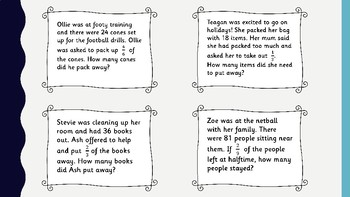 Fractions Worded Problems