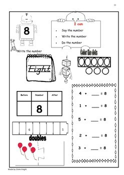 Early Maths Worksheets for numbers 0-100 early Maths