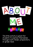 About Me - Numeracy