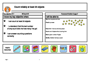 Maths activities for key objectives