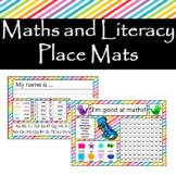 Maths and Literacy Place Mat
