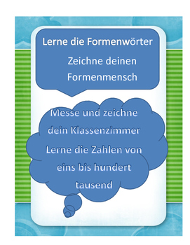 Maths and Shapes in German FORMEN