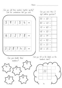 Maths challenges for Kindergarten to Year 2 students