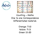 Maths, counting, one to one correspondence, printables, pr