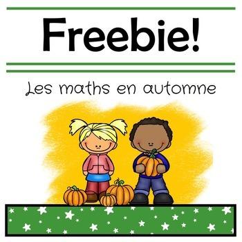 French Fall Math Freebie