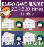 2, 3, 4, 5 and 10 times table bingo pack