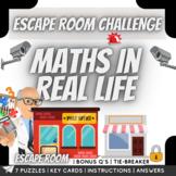 Maths in Real life Scenarios Escape Room Challenge