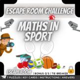 Maths in Sport  Escape Room Challenge