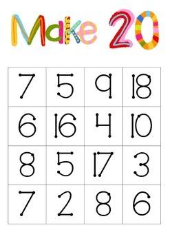 Maths make 10 and make 20 bingo!