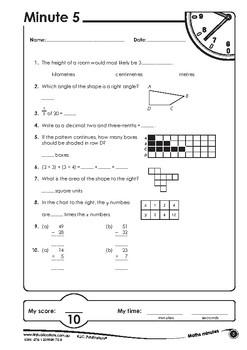 Maths minutes - Book G - Ages 11+