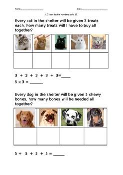 Maths pet shelter problem solving