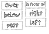 Maths position words display/center