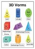 Maths poster Afrikaans 3D vorms