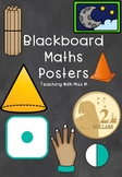 Maths poster bundle (Early Stage 1/Stage 1) (Blackboard background)