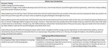 Maths program Stage 1 (Grade 1 & 2) Time, Calendar & timing