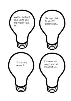Maths reflection bulbs- Switched on learning
