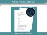 Maths revision and review - Algebra