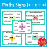 Maths signs ( +, -, x, ÷, =)