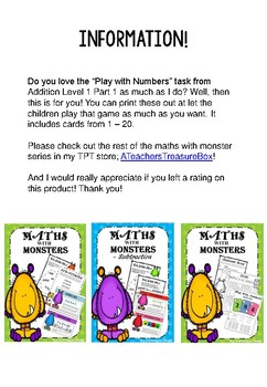 Maths with Monsters Card Deck
