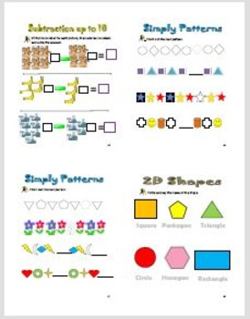 Maths workbook for Kindergarten -grade one