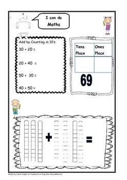 Maths worksheets to cover numbers 0-100