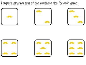Mathstache Addition Game/Center Intermediate Edition