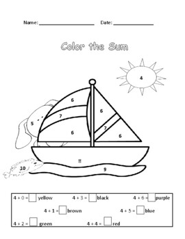 End of Year  Mathsterious Color in Sum / Difference Bundle