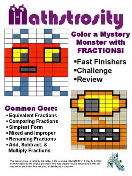 Mathstrocity: Fraction Mystery Monster Challenge