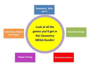 Mathtastic's Geometry Games MEGA Bundle for Common Core