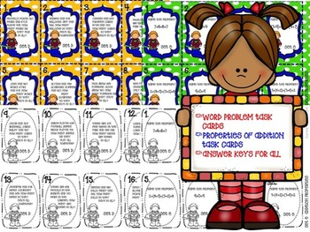 Mathtastic! 3 digit Addition Task Cards