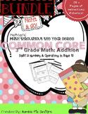 Mathtastic Addition Bundle: Interactive notebook, workshee
