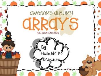 Mathtastic Autumn Arrays: Activity for making arrays & mul