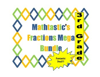 Mathtastic's 3rd Grade Fraction Games MEGA Bundle for Common Core
