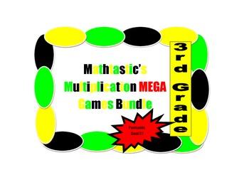 Mathtastic's 3rd Grade Multiplication Games MEGA Bundle for Common Core