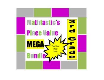 Mathtastic's 3rd Grade Place Value Games MEGA Bundle for Common Core