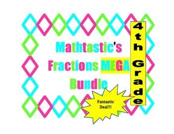 Mathtastic's 4th Grade Fraction Games MEGA Bundle for Common Core