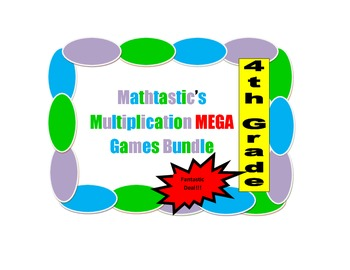 Mathtastic's 4th Grade Multiplication Games MEGA Bundle for Common Core