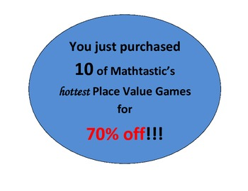 Mathtastic's 4th Grade Place Value Games MEGA Bundle for Common Core