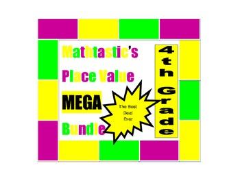 Mathtastic's 4th Grade Place Value Games MEGA Bundle for Common Core