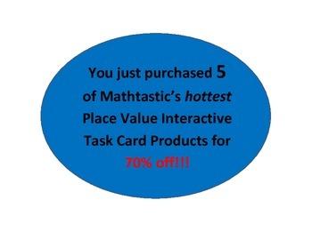 Mathtastic's Place Value Interactive/Hands-On Task Cards MEGA Bundle