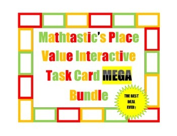 Mathtastic's Place Value Interactive/Hands-On Task Cards M