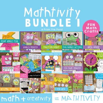 Mathtivity Bundle 1 - Math Crafts to Combine Math and Creativity