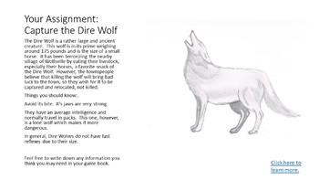 Mathtopian Adventures: Capture the Dire Wolf